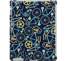 Bicycle Assembly Pattern (blu) iPad Case/Skin