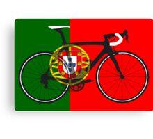 Bike Flag Portugal (Big - Highlight) Canvas Print