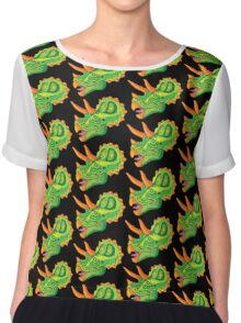 Triceratops (lime) Chiffon Top