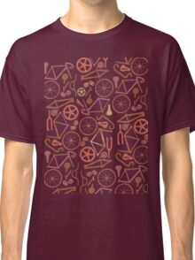 Bicycle Assembly Pattern (autumn) Classic T-Shirt
