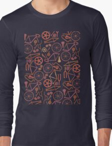 Bicycle Assembly Pattern (autumn) Long Sleeve T-Shirt
