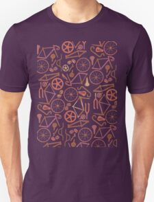 Bicycle Assembly Pattern (autumn) Unisex T-Shirt