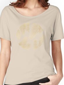Gold palm leaves Women's Relaxed Fit T-Shirt