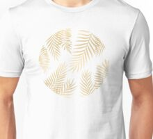 Gold palm leaves Unisex T-Shirt