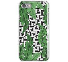 Tropical leaf pattern iPhone Case/Skin