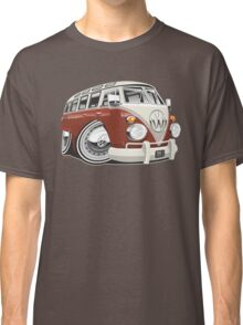 VW T1 bus caricature red Classic T-Shirt