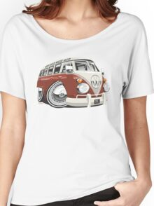 VW T1 bus caricature red Women's Relaxed Fit T-Shirt