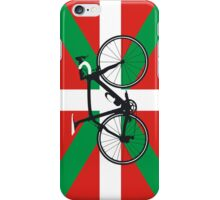 Bike Flag Basque (Big - Highlight) iPhone Case/Skin
