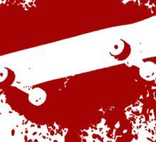 Skate splatter (red) Sticker