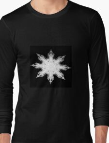 White Flake Long Sleeve T-Shirt