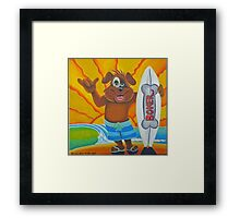 BONER SURF BOARDS Framed Print