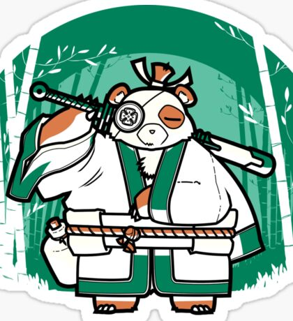 Samurai Panda Sticker