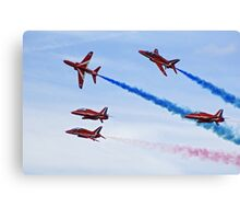 Red Arrows flying in formation Canvas Print