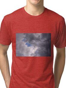 Fluffy stormy clouds. Tri-blend T-Shirt