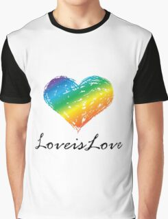 Pride - Love is Love Graphic T-Shirt