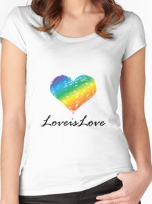 Pride - Love is Love Women's Fitted Scoop T-Shirt