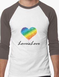 Pride - Love is Love Men's Baseball ¾ T-Shirt