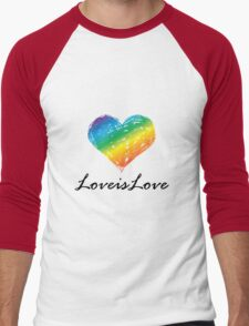 Pride - Love is Love Men's Baseball ¾ T-Shirt
