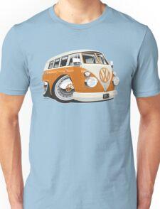 VW T1 bus caricature orange Unisex T-Shirt