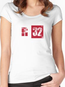 R32 (red) Women's Fitted Scoop T-Shirt