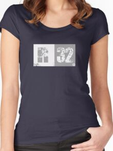 R32 (light grey) Women's Fitted Scoop T-Shirt