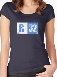R32 (blue) Women's Fitted Scoop T-Shirt