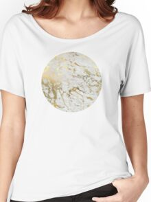 Gold marble Women's Relaxed Fit T-Shirt