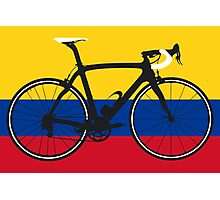 Bike Flag Colombia (Big - Highlight) Photographic Print