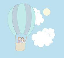 Rumbelle Balloon Flight by CartoonJessie