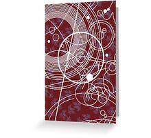 Ten Tie Gallicush - Maroon (Greeting Card) Greeting Card