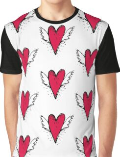 Red heart with wings Graphic T-Shirt