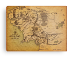 The Middle Earth Metal Print