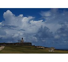 Dramatic Tropical Sky Over Old San Juan, Puerto Rico Photographic Print