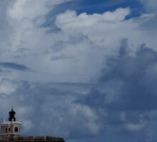 Dramatic Tropical Sky Over Old San Juan, Puerto Rico Sticker