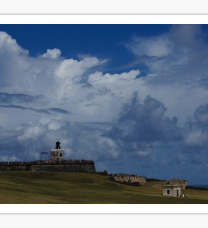 Dramatic Tropical Sky Over Old San Juan, Puerto Rico Sticker