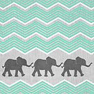 Three Elephants by Tangerine-Tane