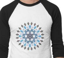 roue de lys (version bleu en blanc) Men's Baseball ¾ T-Shirt