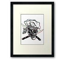 Skull Chef with Checkered Bandana Framed Print