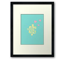 Pastel Best Friends Forever Connection Puzzle (left) Framed Print