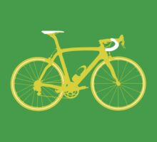 Bike Yellow (Big) Kids Tee