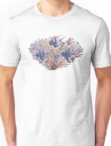 Cardinalfish in coral Unisex T-Shirt
