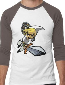 Toon Link - Changeable Color Men's Baseball ¾ T-Shirt
