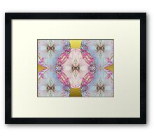 YoYo Baby: Plastic Bubble Kaleido on Gold Framed Print