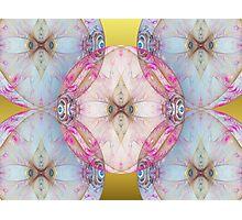 YoYo Baby: Plastic Bubble Kaleido on Gold Photographic Print