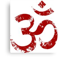 Red Painted Ohm Symbol Canvas Print