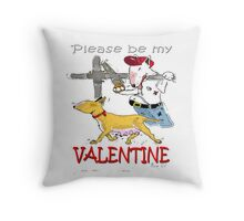 Valentine Bull Terriers. Throw Pillow