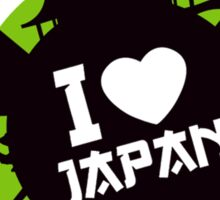 """I Love Japan""  Sticker"
