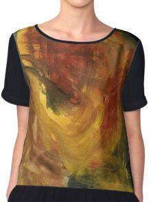 Abstract Watercolor Texture Painting Chiffon Top