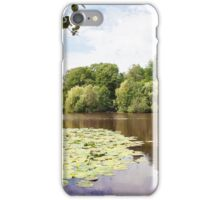 lake landscape with water lilies iPhone Case/Skin