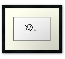 The Weeknd Logo Framed Print